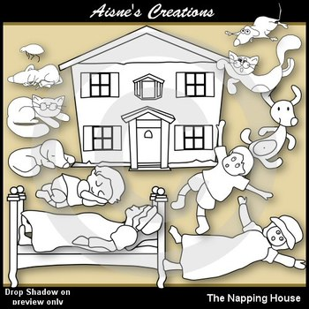 The Napping House Clip Art Pack