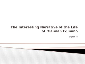 The Narrative of the Interesting Life of Olaudah Equiano - Prentice Hall Lit