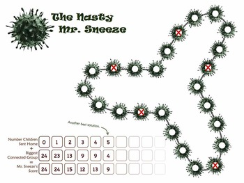 The Nasty Mr. Sneeze - addition practice ($500 classroom challenge)