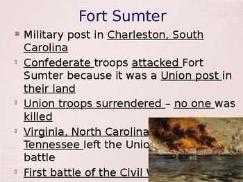 The Civil War and Reconstruction - The Nation Divided by War PowerPoint