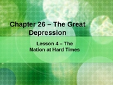 The Great Depression - The Nation at Hard Times PowerPoint