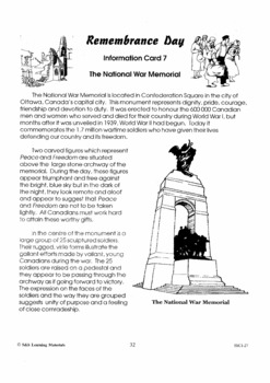 The National War Memorial & Remembrance Day Service