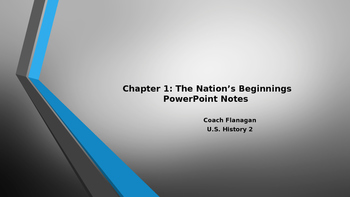 The Nations Beginnings Ppt.