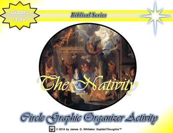 The Nativity Jesus Christ's Birth Circle Graphic Organizer Activity