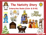 The Nativity.  Jesus is Born! Interactive Books (in color and a coloring book)