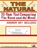 The Natural: A Test Comparing the Book and the Movie (Answer Key Included, $1)