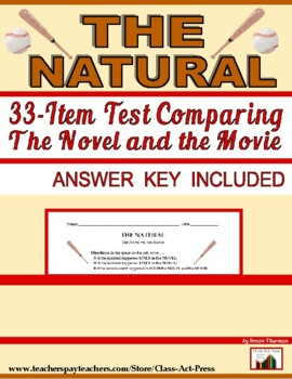 The Natural: A Test Comparing the Book and the Movie (Answ