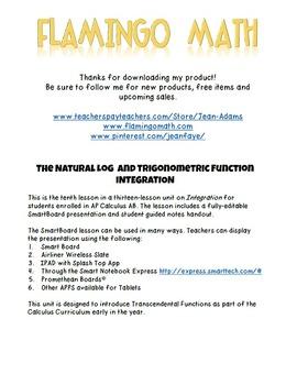 Calculus: Natural Log & Trigonometric Integration