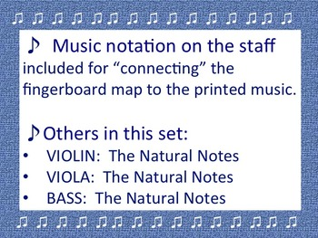 The Natural Notes for CELLO