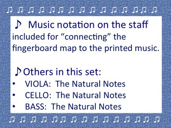 The Natural Notes for VIOLIN