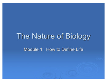 Introduction to Biology - The Nature of Biology (How to Define Life)