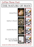 The Nature of Man Novel Unit Theme Pack Bundle