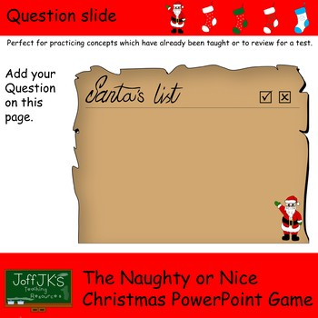 The Naughty or Nice Christmas Power Point Game
