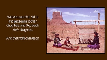 The Navajo Weaving Tradition -Cultures, Artifacts, rugs/blankets Common Core