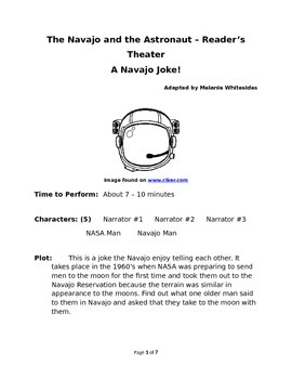 The Navajo and the Astronaut - Small Group Reader's Theater