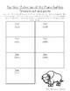 Sequencing and Timeline Activity - Plains Buffalo