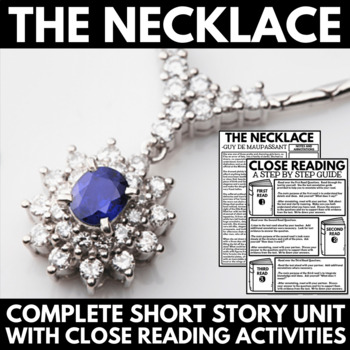 the necklace by guy de maupassant short story unit resources and  the necklace by guy de maupassant short story unit resources and activites