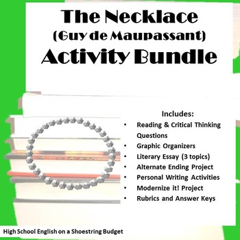 The Necklace Activity Bundle (Guy de Maupassant) Word