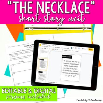 """""""The Necklace"""" by Guy de Maupassant Short Story Unit"""