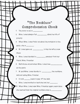 The Necklace Comprehension Check