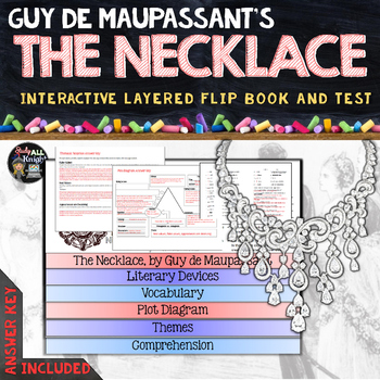 THE NECKLACE SHORT STORY LITERATURE GUIDE FLIP BOOK, TEST AND ANSWER KEYS