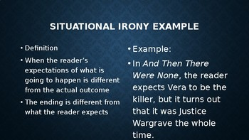 The Necklace Irony PowerPoint
