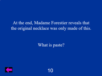 """The Necklace"" Jeopardy"