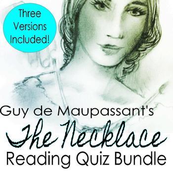 The Necklace Reading Quiz Bundle