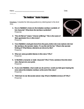 The Necklace Short Response Questions
