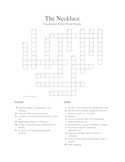 """""""The Necklace"""" Vocabulary Crossword Puzzle B"""