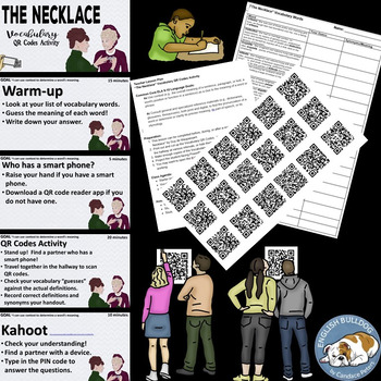 """""""The Necklace"""" Vocabulary QR Codes Activity"""
