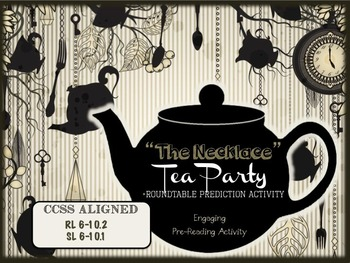 """""""The Necklace"""" by Guy de Maupassant Pre-Reading Activities - Engaging, FUN"""