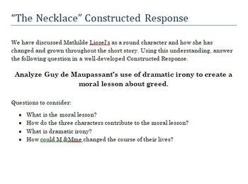 The Necklace - interactive text for close reading/annotation & literary  analysis