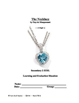 The Necklace (reading, speaking, writing) acivities