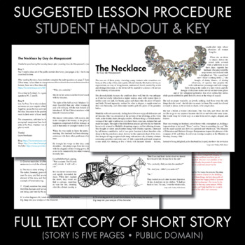 The Necklace, two-day plan, dynamic approach to de Maupassant's short story
