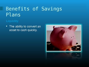 The Need for a Savings Plan