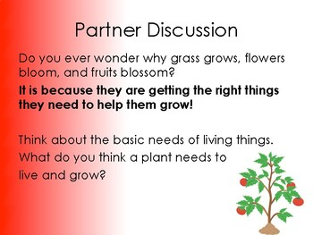 The Needs of a Plant PowerPoint