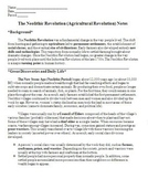 The Neolithic or Agricultural Revolution: Notes, Worksheet