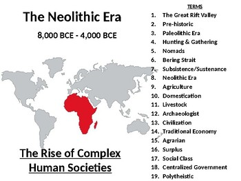The Neolithic Revolution & the development of early civilization