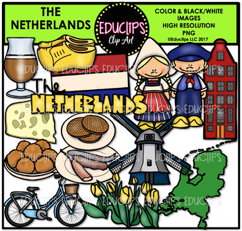 The Netherlands Clip Art Bundle {Educlips Clipart}