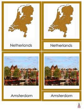 Netherlands Montessori 3-part Cards