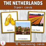 The Netherlands Montessori 3-part Cards