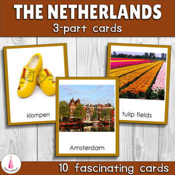 Netherlands Montessori 3-part Cards