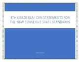 """4th grade ELA """"I Can..."""" statements"""
