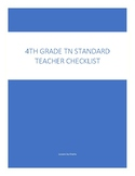 4th grade ELA Teacher Checklist