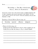 The New Americans - React & Writes