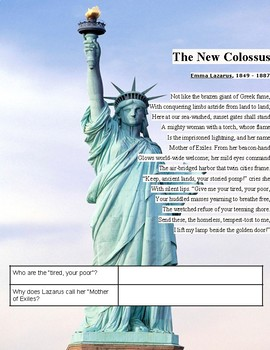 The New Colossus:  Immigration in America