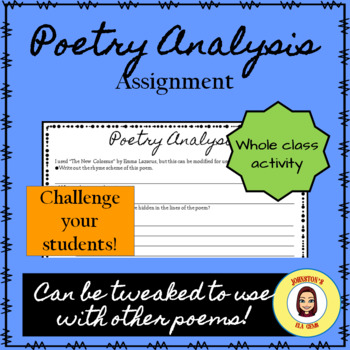 Poetry Analysis- Poetry, Allusion, and Figurative Language
