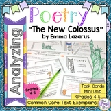 Poetry Task Cards The New Colossus by Emma Lazarus Poetry