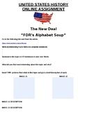 "The New Deal ""FDR's Alphabet Soup"" ONLINE ASSIGNMENT"